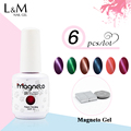 6pcs  Magneto  Free Shipping Contain magnet Cat Eyes Gel Soak Off Gel Polish Magnetic 48colors for choose