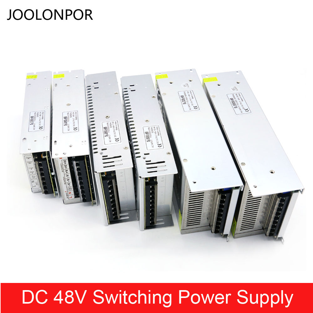 Transformador de alimentación de Modo Conmutado DC 48 V 3A 5A 7.5A 10A 15A 20A 150 W 240 W 350 de 360 W 500 W 600 W 720 W 800 W 1000 W para iluminación
