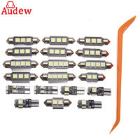 20 Pcs White Car LED Lamp Interior LED Light Kit With Tool For VW PASSAT B5