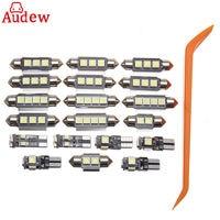 20 Pcs White Car LED Lamp Interior LED Light Kit With Tool For VW PASSAT B5