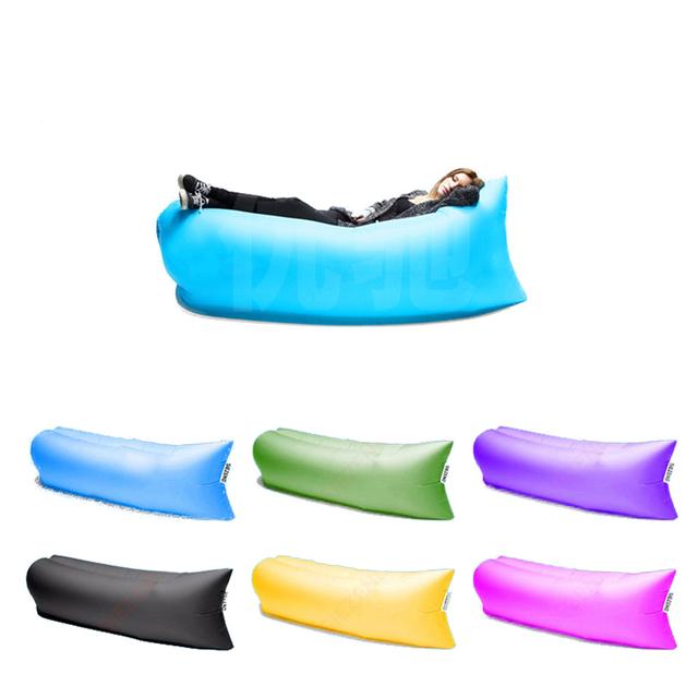 Aptoco perezoso sofá perezoso sofá inflable del aire de empalme solo bolso de dormir al aire libre bolsa de cama de aire inflable de la silla del salón