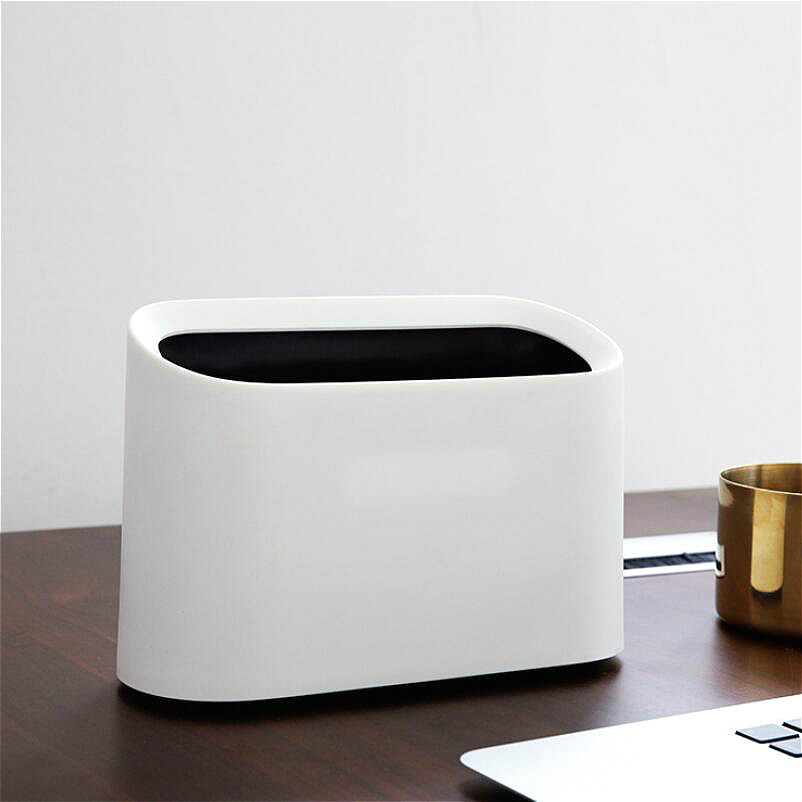 Modern Simple Nordic Creative Dustbin Home Kitchen Living Room Desktop Garbage Cans Wastepaper Basket Standing Car Trash Can in Waste Bins from Home Garden