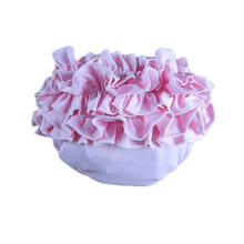 Baby Solid Cotton Bloomers Diaper Cover Nappy Ruffles