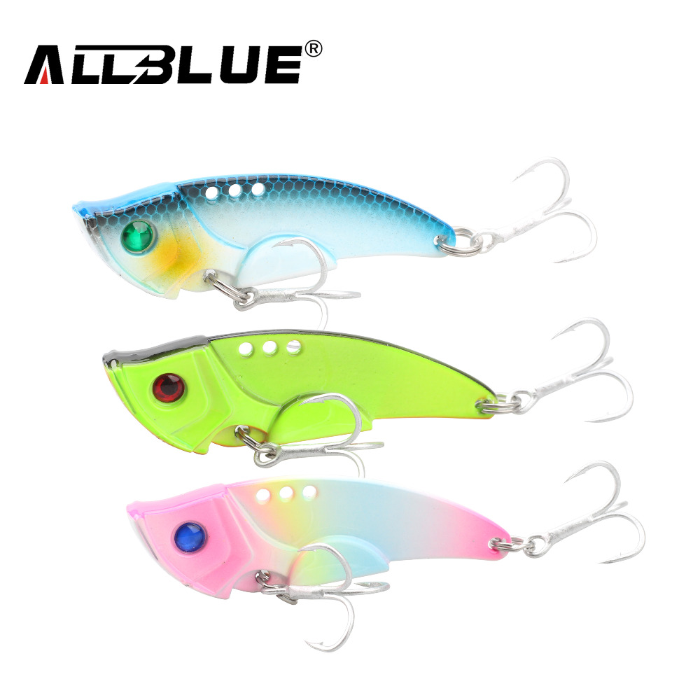 ALLBLUE 20g Blade Lure Metal VIB Hard Bait Salt Water Shallow Water Bass Vibrations Minnow Fishing Lures Tackle wldslure 1pc 54g minnow sea fishing crankbait bass hard bait tuna lures wobbler trolling lure treble hook