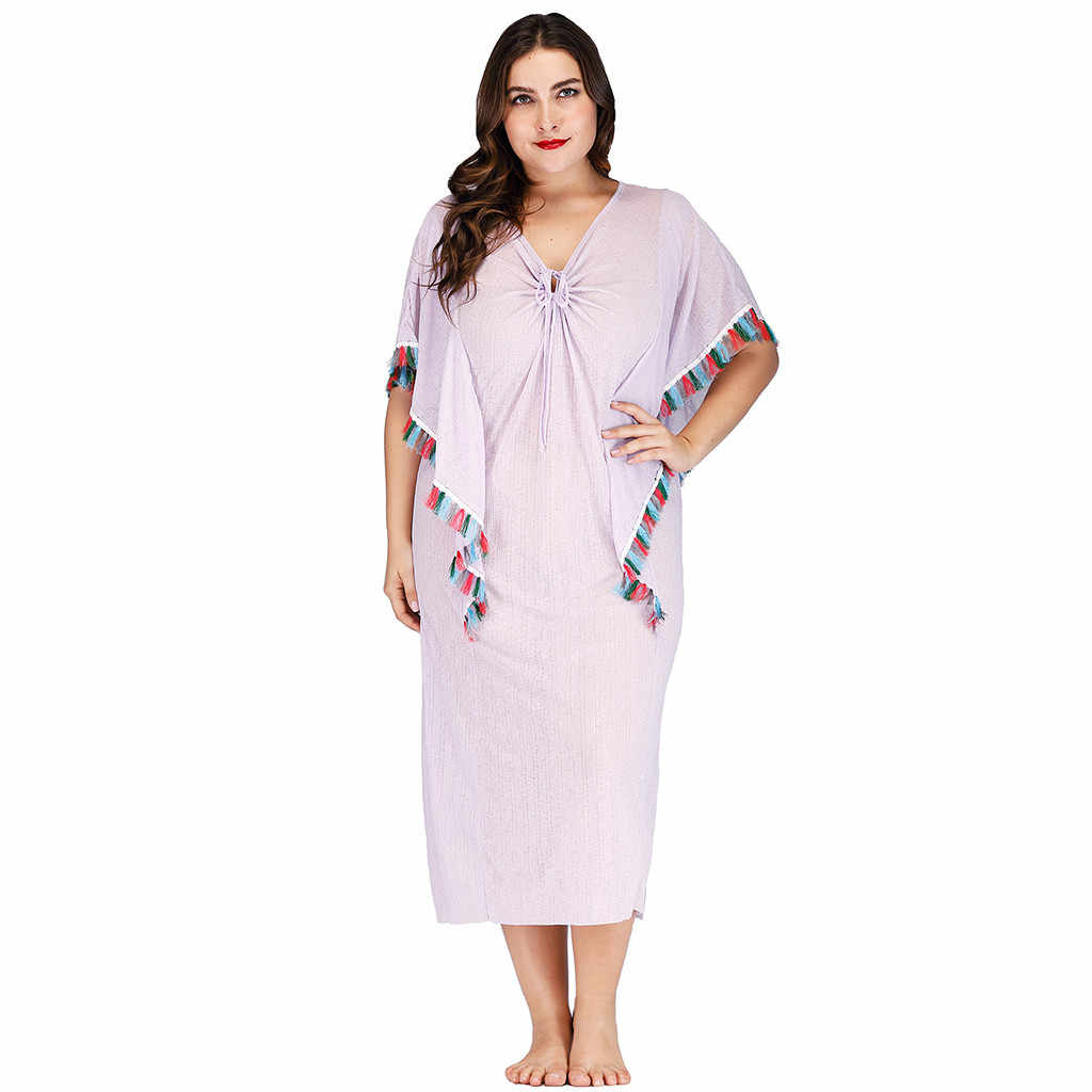 752262b377fe3 Detail Feedback Questions about Summer women dress Plus Size Sexy V ...