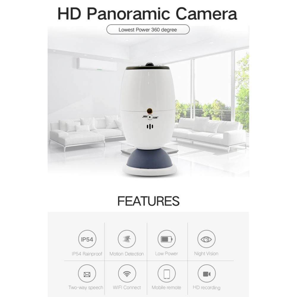 360 Degree Wireless Wifi Monitoring Camera Security Video Surveillance Camera360 Degree Wireless Wifi Monitoring Camera Security Video Surveillance Camera