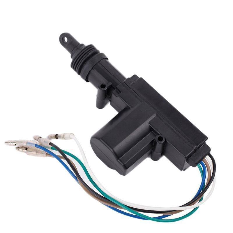 Автомобильная центральная система блокировки 5 проводов автоматический силовой двигатель приводного замка черный