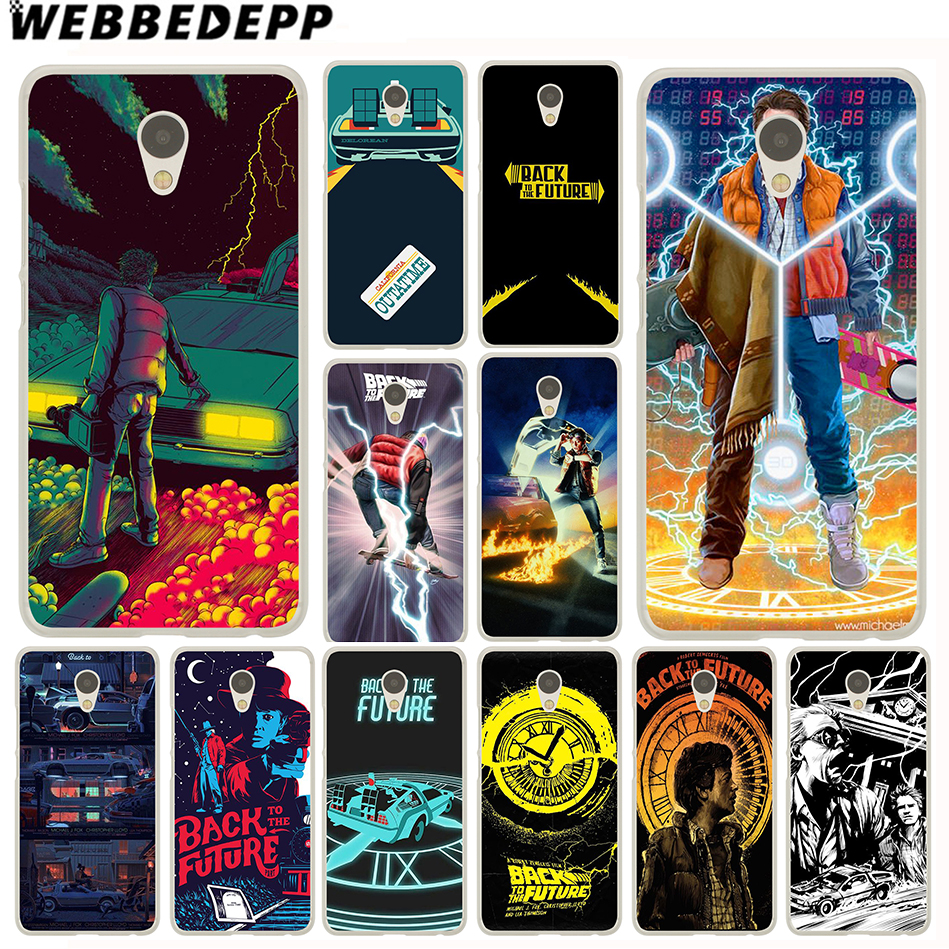 WEBBEDEPP Back To The Future Case for Meizu M6 M5 M5C M3 M2 Note M3s mini M5S U10 U20 Pro 6 7 Plus