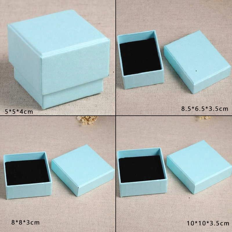 5 Sizes Fashion Jewelry Box Tiffany blue Ring Box Earrings Pendant
