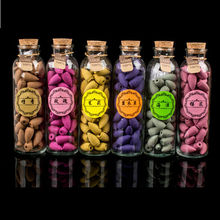 60pcs/Bottle Natural Backflow Incense Cone Grain Glass Bottle 11 Scents Tower India Sandalwood Incenses