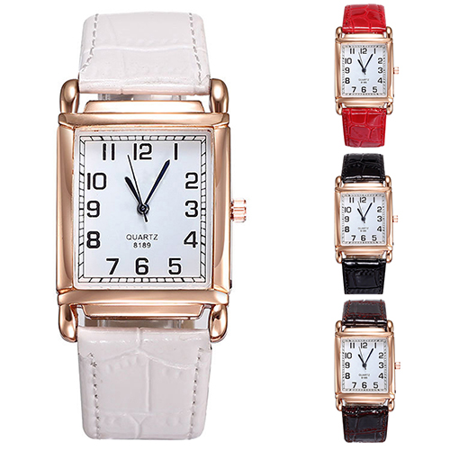 2015 New Hot Hot Fashion Men Women Watches Leather Band Square Dial Quartz Analog Wrist Watch 1MYV 4CZB 6T31 smt 89 new fashion women retro digital dial leather band quartz analog wrist watch watches wholesale 7055