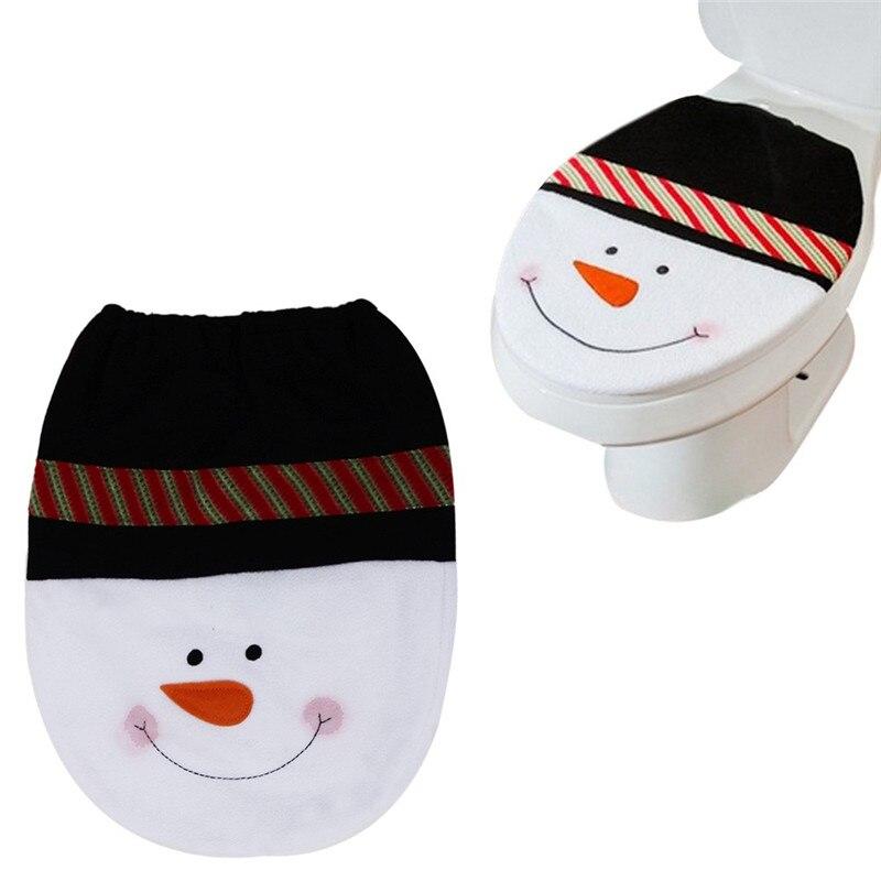 Ishowtienda 1 шт. 35.5 см x 43 см Снеговик Чехлы для сиденья унитаза и Рождество украшения Чехлы для сиденья унитаза