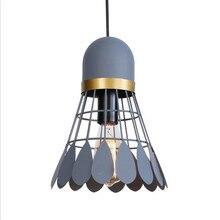 купить Nordic Design Loft Led Pendant Light Modern Iron Badminton Pendant Lamp Dining Room Hanglamp Home Decor Lighting Luminaire дешево