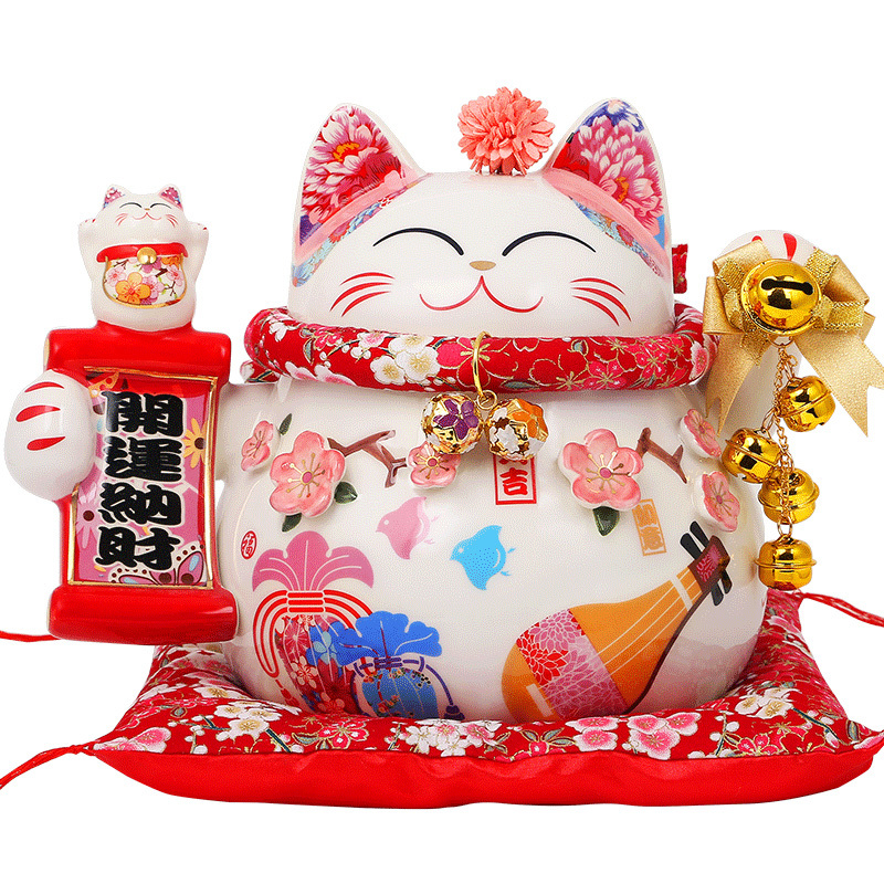 Hot Selling Newest Fortune Cat Decoration Creative Size Japanese Rich Cat Savings Piggy Ba