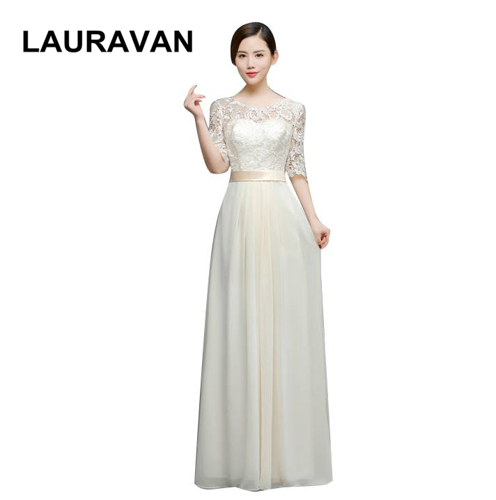 Long O Neck Sleeve Champagne Floor Length Elegant Bridesmaid Bridal Party Dresses Red Under 100 Dress For Special Occasions