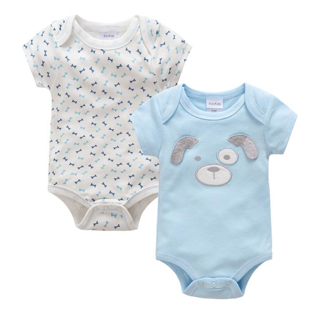 Kavkas Baby Boy Clothes Newborn Overalls Summer Dog Design Bodysuits ...