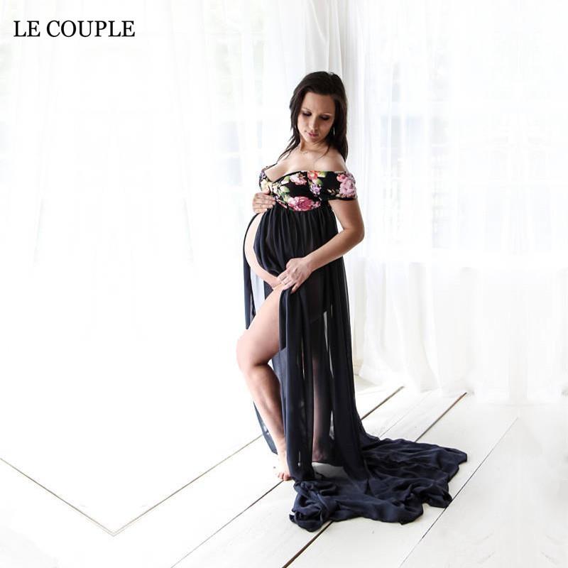 Le Couple Floral Εκτύπωση Φορέματα - Εγκυμοσύνη και μητρότητα - Φωτογραφία 1