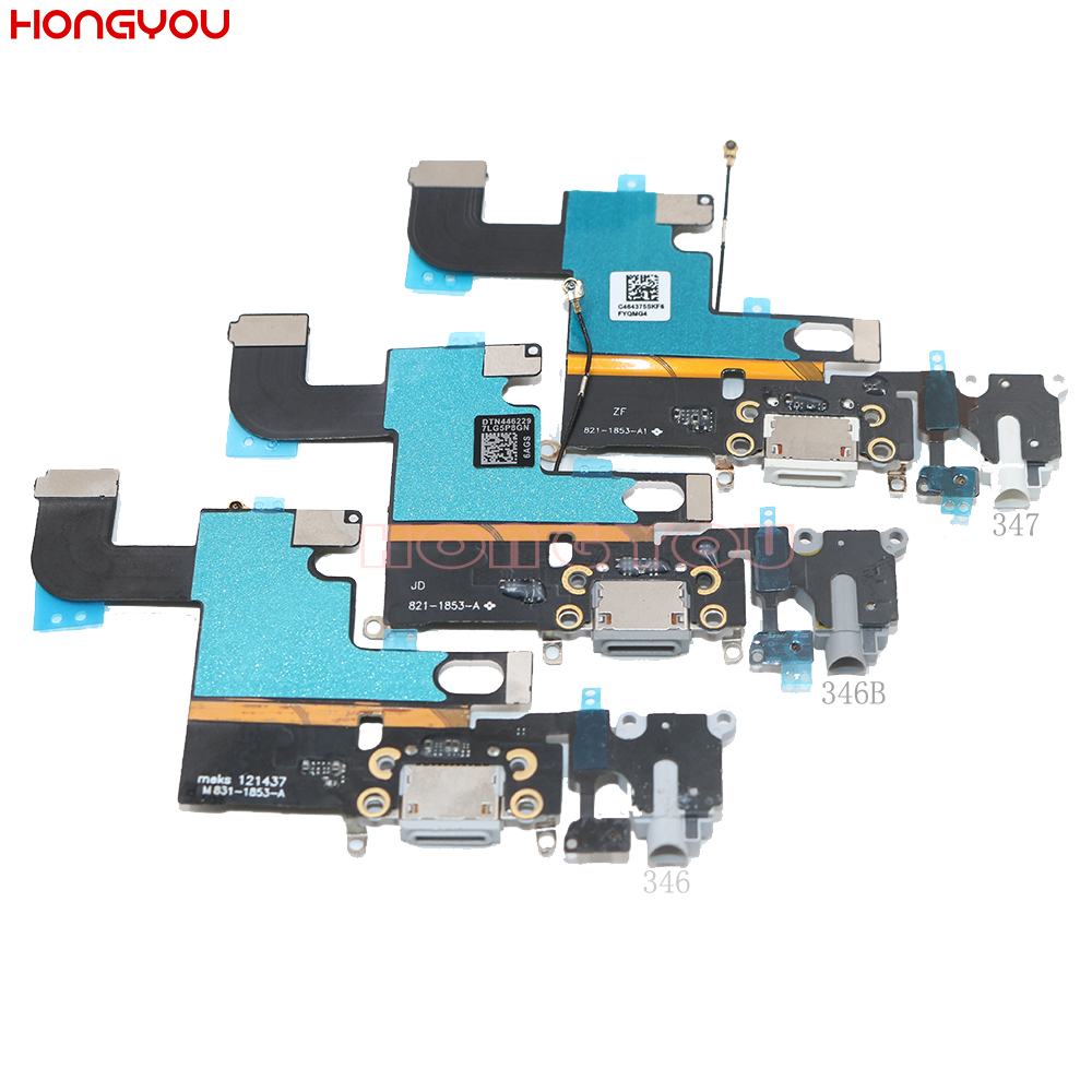 USB Charging Port Connector Charge Dock Socket Jack Plug Flex Cable With Headphone Audio Jack For 6 6G 4.7inch
