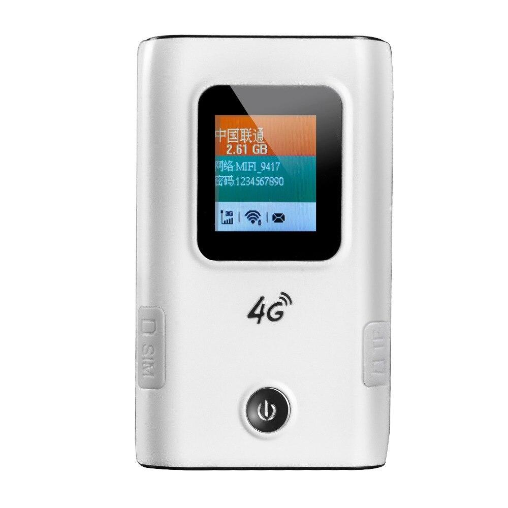 Portable wifi 4g routeur 3G 4G Lte wifi routeur sans fil 5200 mAh batterie batterie externe Hotspot débloqué voiture Mobile avec fente pour carte Sim