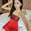 Sexy Female Dress Summer Silk Lace Nightgown Lure Size Cute Princess Sling Sexy Lingerie Sleepwear