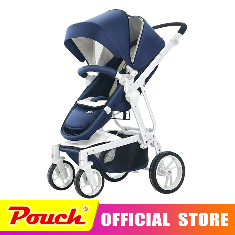 AULON Oyun Long Baby Stroller can sit and fold the high landscape light baby baby stroller