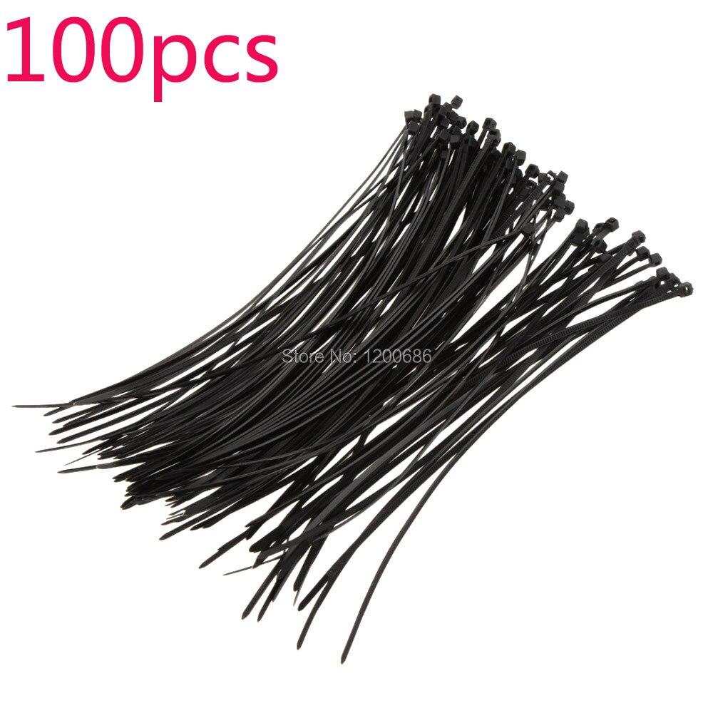 100Pcs 20cm Fire resistant Plastic Nylon Cable Ties Zip Wire Wrap ...