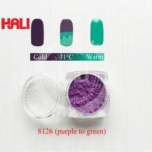 Цвета в цвет термохромный пигмент, термочувствительный порошок, термохромный порошок, 31C фиолетовый в зеленый, 1 лот = 10 г