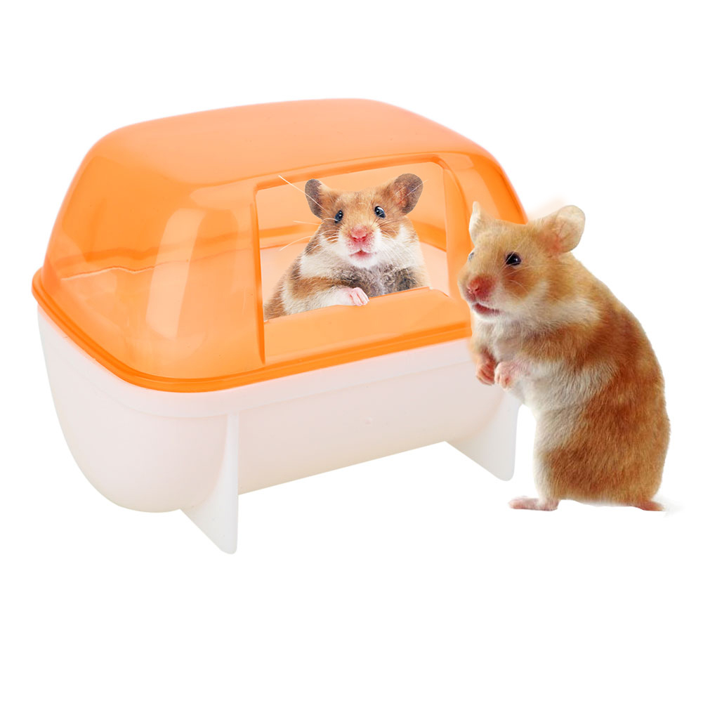 Hamster Bathroom Bath Sand Activity Room House Sauna Toilet Bathtub Plastic