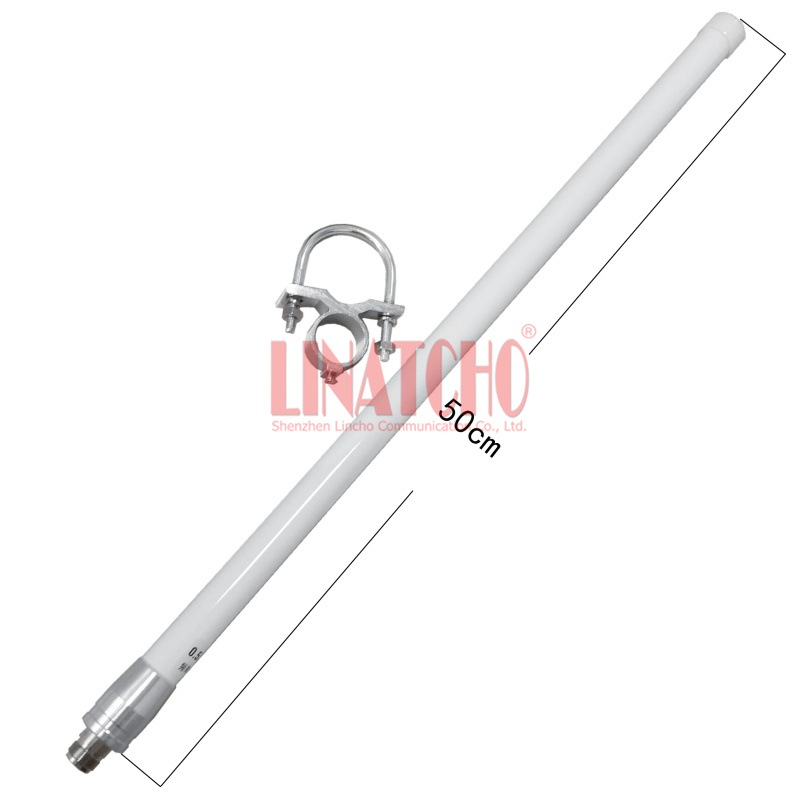 GSM 890-960MHz 900MHz 8DB Omnidirectional Fiber Glass Antenna N Θηλυκό επαναλήπτη κεραία