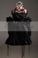 VOCALOID Мику короткое платье Косплэй костюм расширенный пользовательский E001