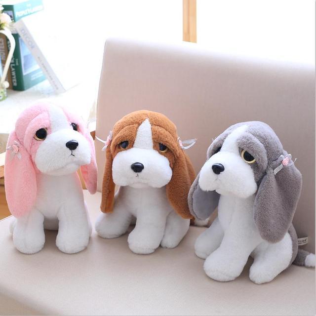 super mignon en peluche jouet animal petit chien grande oreille papa chien en peluche jouet. Black Bedroom Furniture Sets. Home Design Ideas
