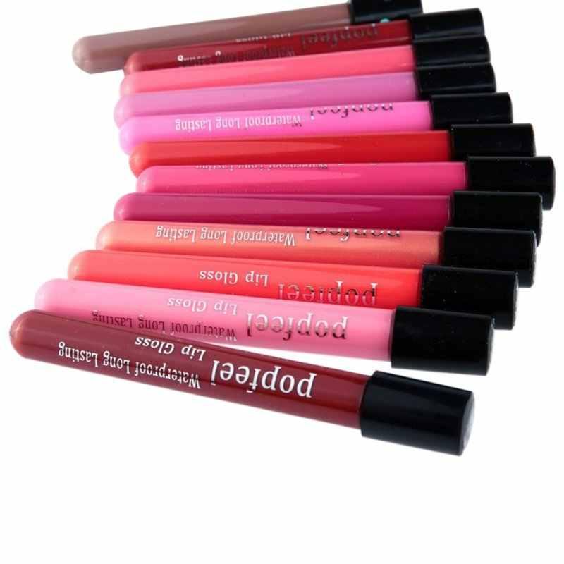 נוזל שפתון Batom שפתיים ערכת 12 צבעים Rouge Levre מט יופי מט שפתון נוזלי Labiales מט עמיד למים איפור