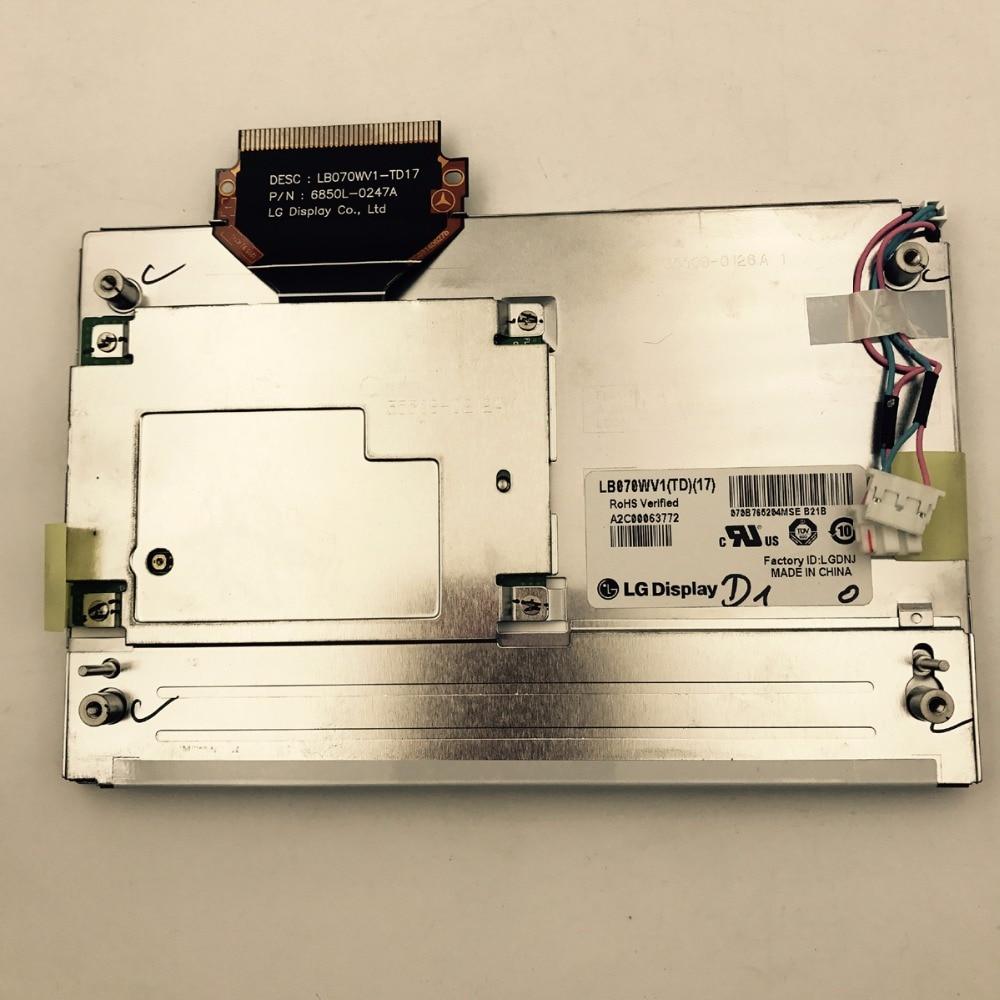 Brand new and original LB070WV1 TD17 LB070WV1 (TD)(17) 7INCH TFT LCD Display for Mercedes car dvd navigation system