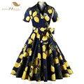 Vestido lemon sishion 50 s 60 s retro do vintage polka dot audrey Hepburn vestido de Manga Curta Mulheres Vestido de Verão Plus Size Preto Vermelho VD0434