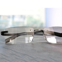 HD TR90 Rimless Ultra Light Glasses Frame Reading +100 ~+400 Quality Computer Presbyopia Eyewear For Readers