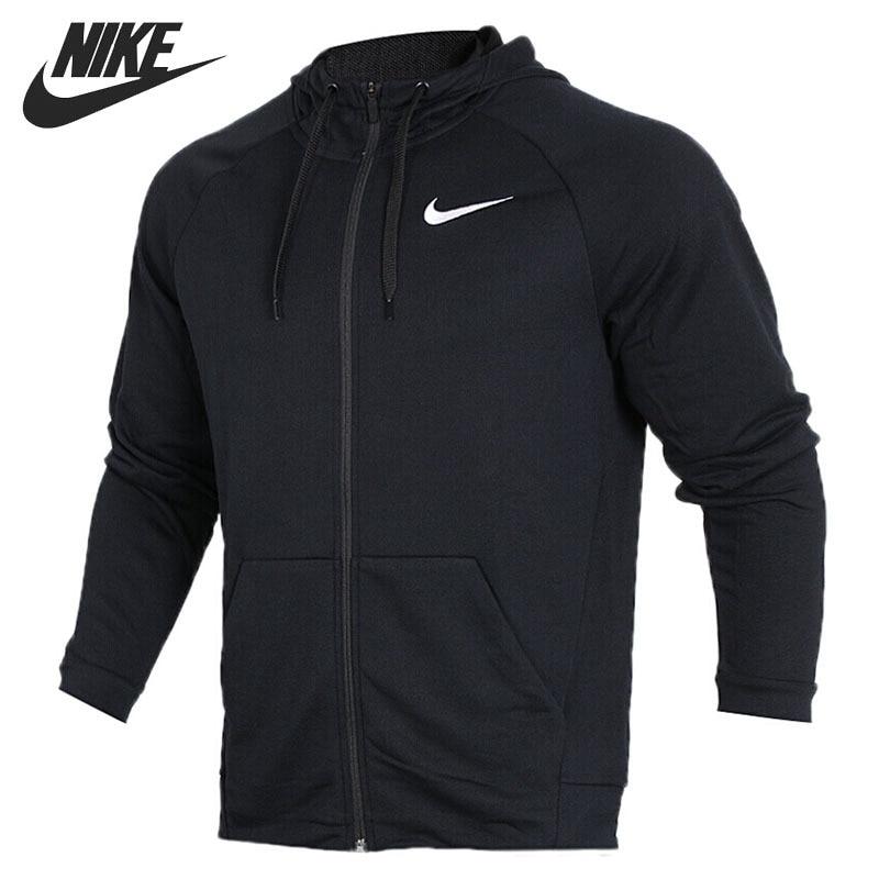 Original New Arrival 2018 NIKE DRY HOODIE FZ FLEECE Men's Jacket Hooded Sportswear original nike men s black knitted jacket hooded sportswear
