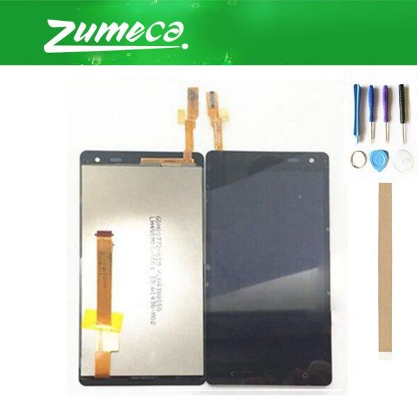 Alta Qualidade Para HTC Desire 600 LCD Screen Display + Touch Screen Substituição Digitador Assembléia Parte Cor Preta Com Fita & Tool