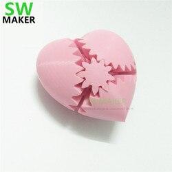 7/8/10 cm 3D drukowanie kawałek biegów miłości  spinning miłość/bicie serca  kreatywny prezent urodzinowy/prezent na Walentynki