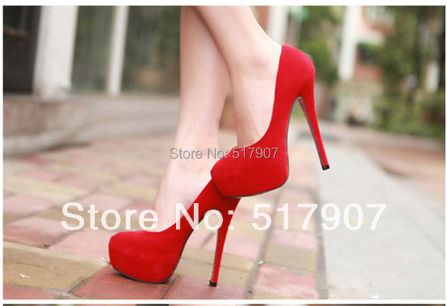 Plus Size 35 - 42 High Platform Stiletto Heel Shoes for Women Ladies Evening Party Suede Upper High heel Shoes