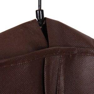 Image 3 - Erweiterung Kleidung Abdeckung vlies Stoff Staub Feuchtigkeit beweis Hängen Tasche für Winter Kleidung Pelz Mantel Protector AHD001