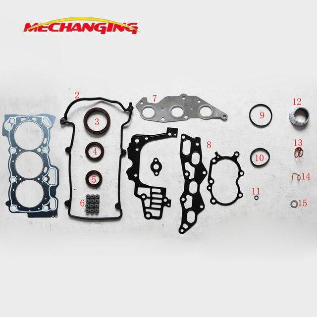 Voor DAIHATSU SIRION 1.0L EJ EJ-DE EJ-VE Motor Onderdelen Volledige Set Motor Afdichting Pakking Automotive Onderdelen 50232700 04111- 97206-000