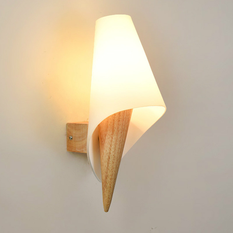 Modern Japanese Style Led Lamp wooden Wall Lamp Lights Sconce for Bedroom Lighting,Wall Sconce solid wood wall light IY121779 цена 2017