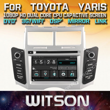 WITSON factory price!! car dvd player for TOYOTA YARIS 2005-2011 stereo radio GPS +Mirror Link function+TPMS+DVR+DSP+WIFI