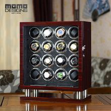 Mogę zaoferować ekskluzywne duże pokrętło zegarka 16 automatyczny zegarek pudełko czarne zamszowe wkładka z Mabuchi silnika i ekran dotykowy LCD drewniane winder tanie tanio MOMODESIGNS CN (pochodzenie) 23cm Zegarek nawijarki 42 5cm TG8016 MDF WITH HIGH GLOSS Nowy bez tagów 52cm