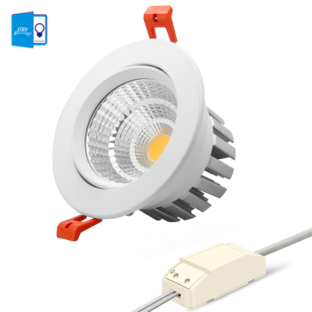 [DBF] 2019 New Model LED Dimmable Downlight COB 6W 9W 12W 15W 18W 20W LED Spot Light LED Decoration Ceiling Lamp AC 110V 220V(China)