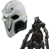 OW Reaper Skull Mask Accessories Cosplay Costume PVC Helmet Halloween Christmas Party Hockey Game White Face