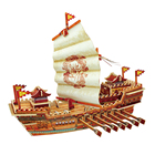 UTOYSLAND Soochow Battleship 3D Assembled Wooden Puzzle Military Ships Model Stem Toys for Home Decor