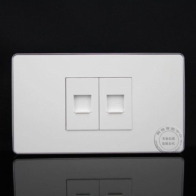 120mm wall plate 2 ports telephone rj11 cat3 network lan rj45 rh aliexpress com