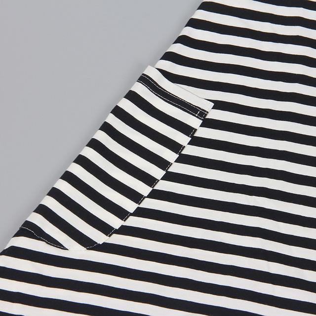 1psc Family Mother Dress Girl Summer Long Sleeve Striped