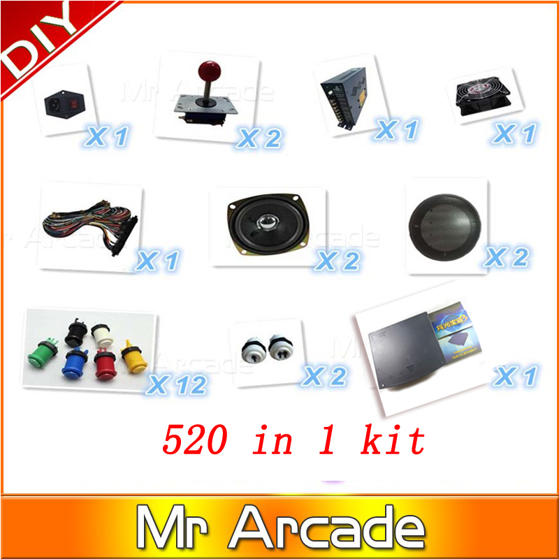 Jamma Arcade game kit original pandora box 3 520 in1 arcade parts to built Bar-top arcade machine or upright arcade machine free shipping pandora box 4 vga cga output for lcdcrt 645in1 game board arcade bundle video arcade jamma accesorios kit arcade